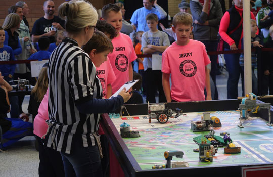 Lego league at St. Wenceslaus School