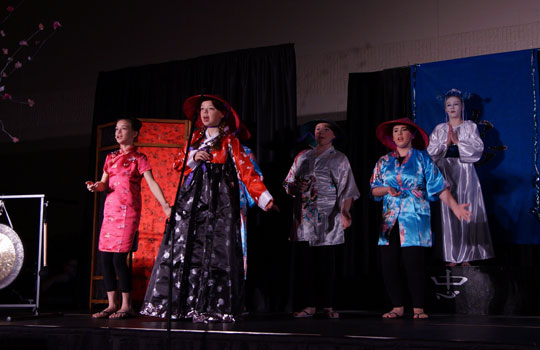 The play Mulan at St. Wenceslaus School in New Prague