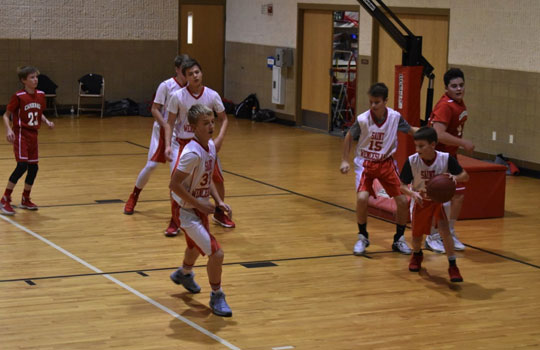 Boys basketball at St. Wenceslaus School