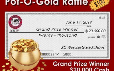 Pot of Gold – $20,000 Raffle