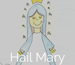 Hail Mary Visual Prayer